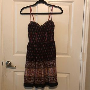 Black and red sun dress